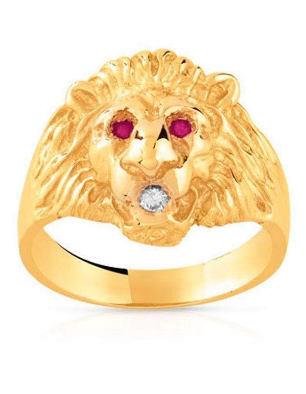 Chevalière lion Maty