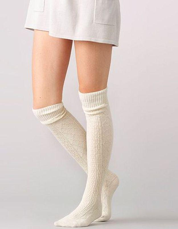 Mode tendance look shopping accessoires chaussettes hautes laredoute