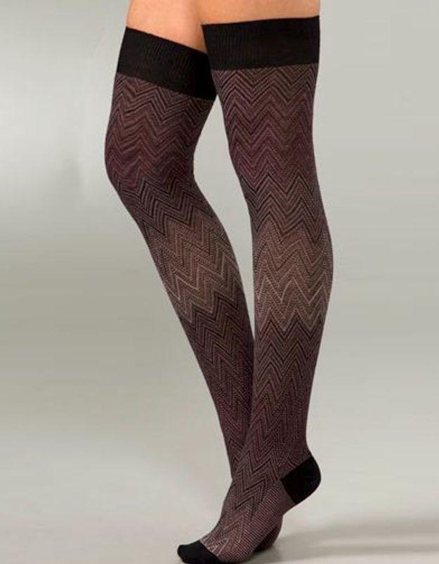 Mode tendance look shopping accessoires chaussettes hautes Missoni