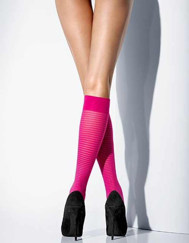 Mode tendance look shopping accessoires chaussettes hautes Wolford