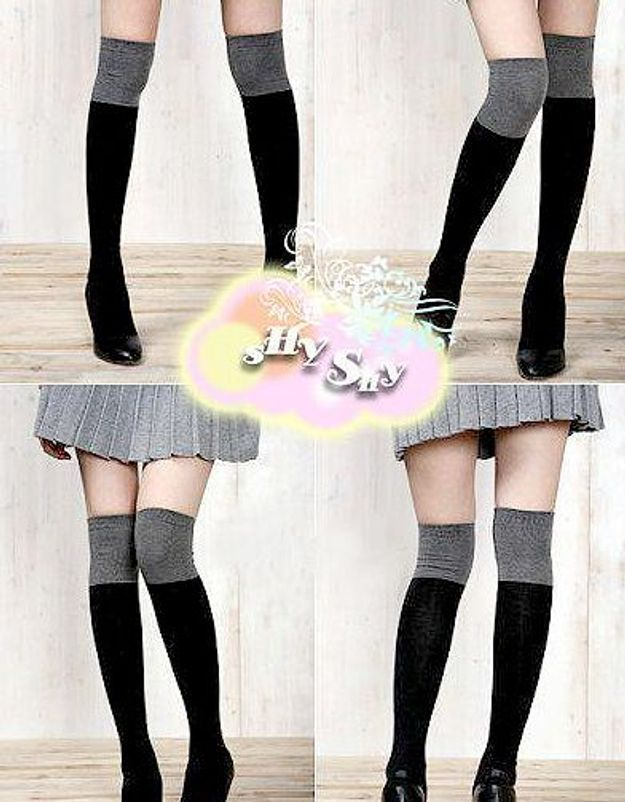 Mode tendance look shopping accessoires chaussettes hautes yesstyle
