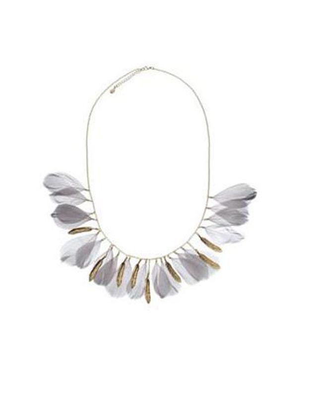 Accessorize collier plumes