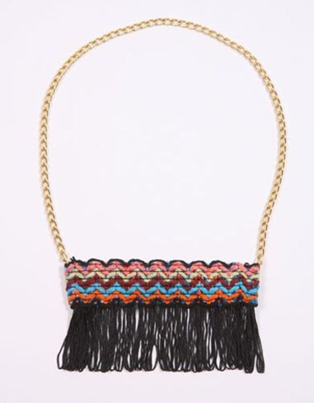 Urban outfitters collier franges