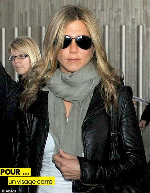 Mode tendance guide shopping lunettes visage carre jennifer aniston
