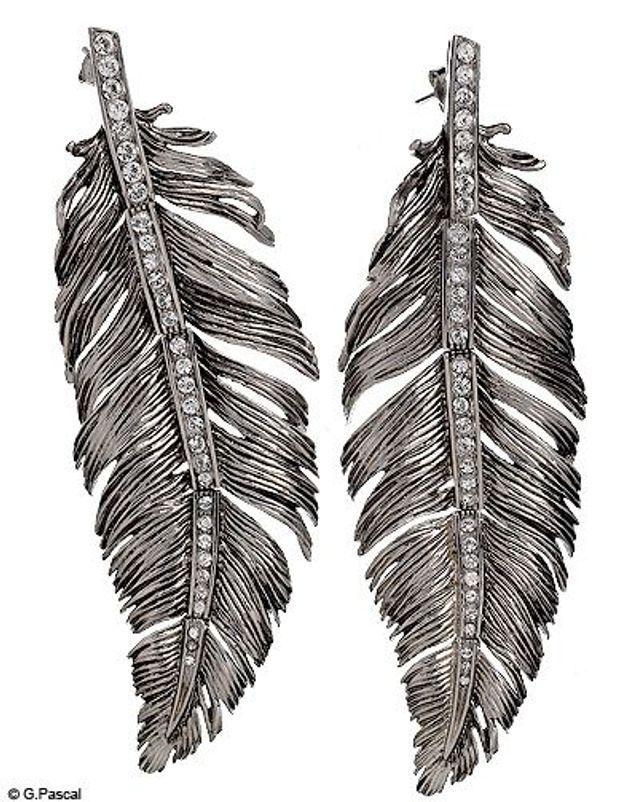 Mode accessoires guide shopping boucles oreilles retro plumes roberto cavalli