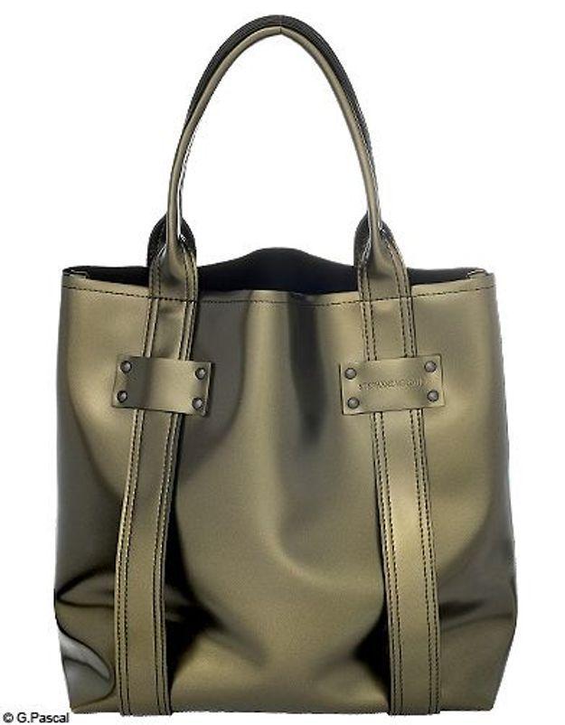 Mode guide shoping tendance look cuir scarabee sac cabas stephane verdino