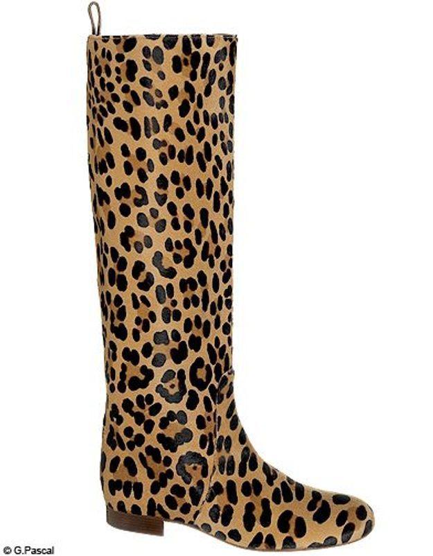 Mode guide shopping tendance look leopard bottes celine