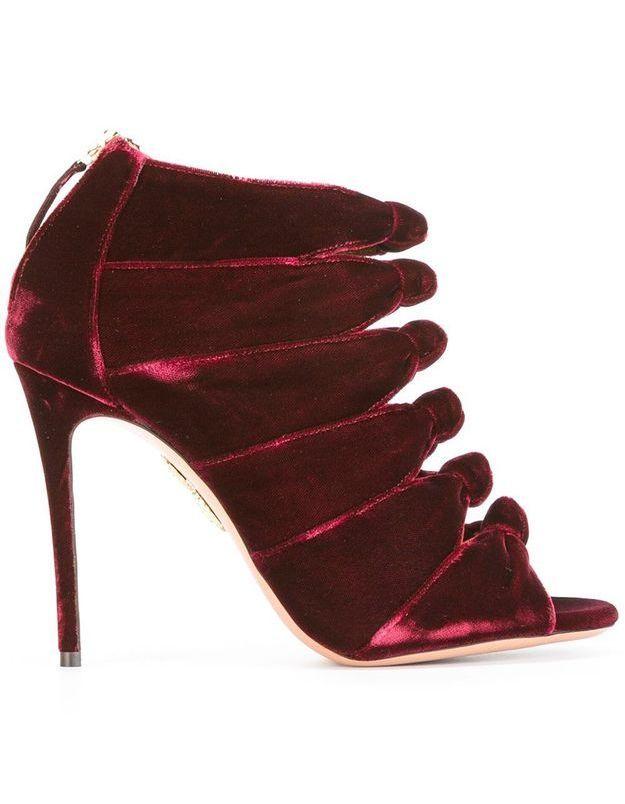Chaussures en velours Aquazzura