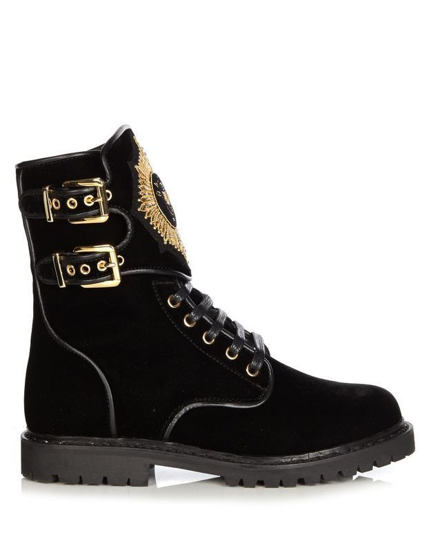 Chaussures en velours Balmain