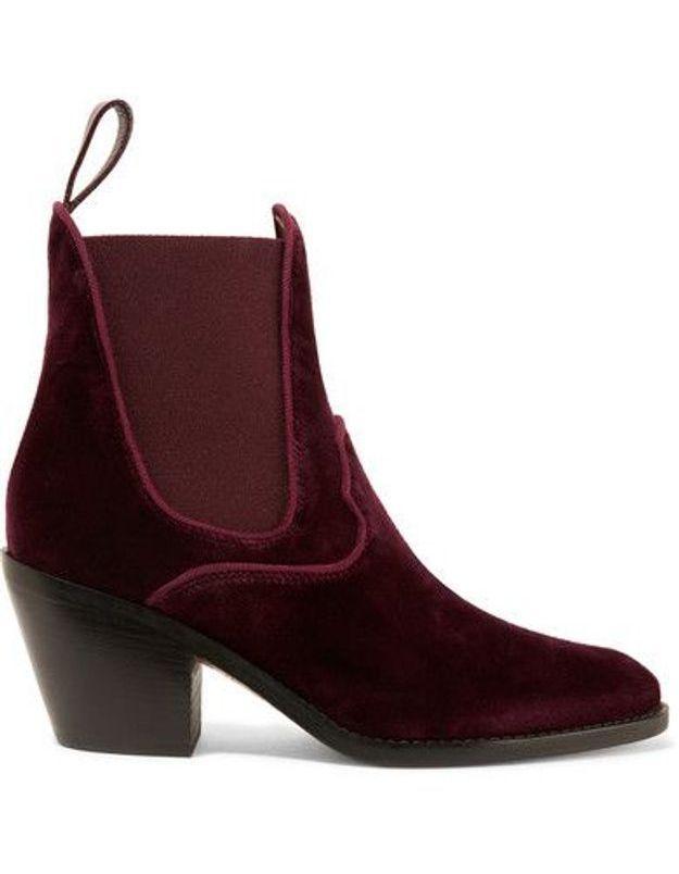 Chaussures en velours Chloé