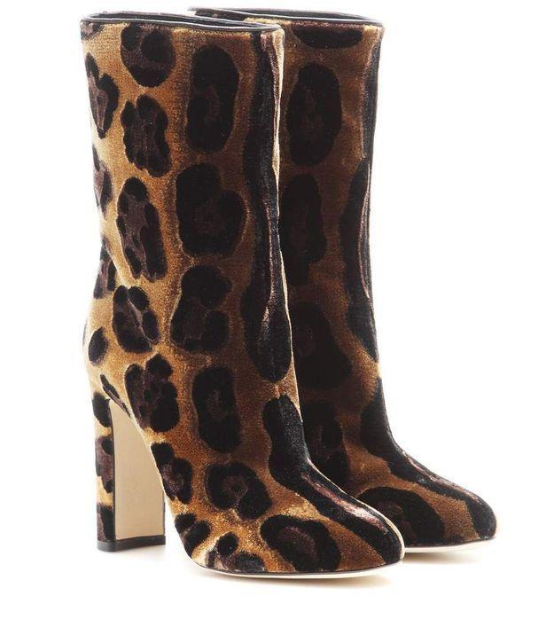 Chaussures en velours Dolce & Gabbana