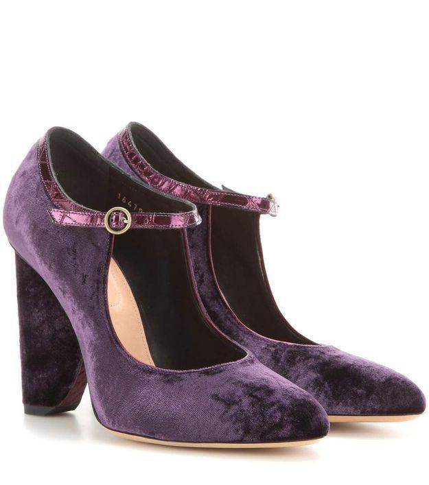 Chaussures en velours Dries Van Noten