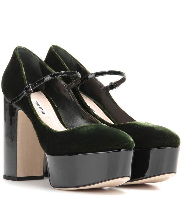 Chaussures en velours Miu Miu