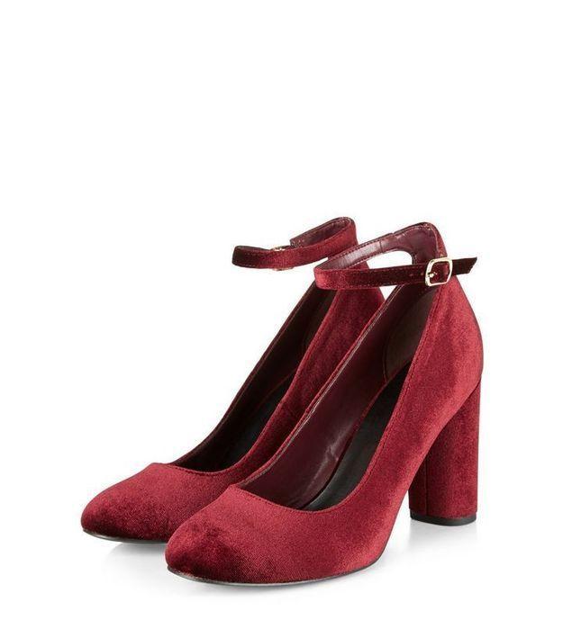 Chaussures en velours New Look