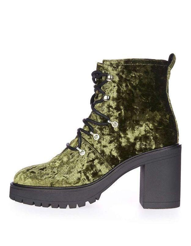 Chaussures en velours Topshop