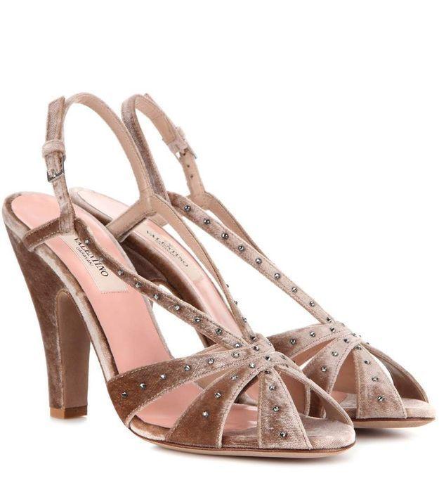 Chaussures en velours Valentino