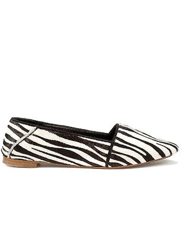 Mode guide shopping tendance accessoire chaussure mocassin zara zebre