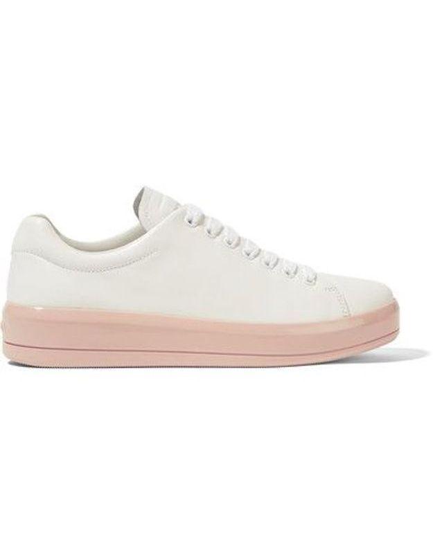 Baskets blanches Prada