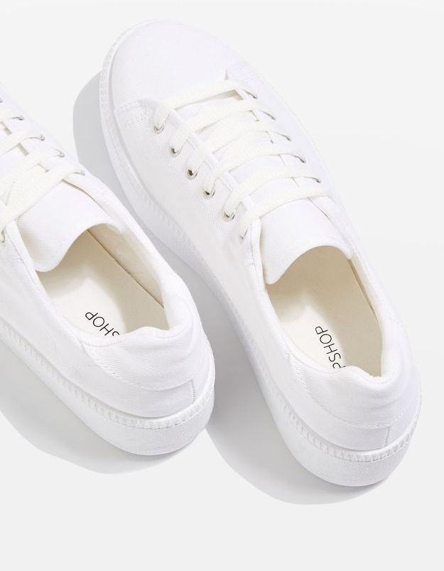 Baskets blanches Topshop