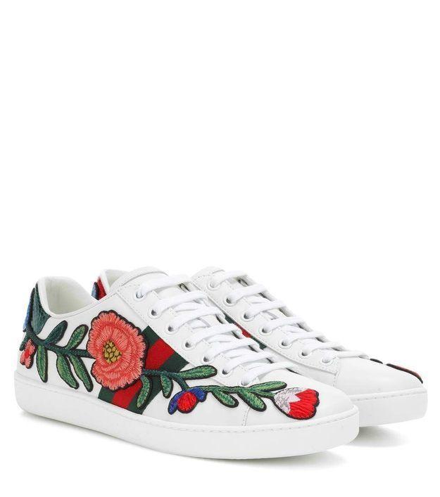 Baskets à fleurs Gucci