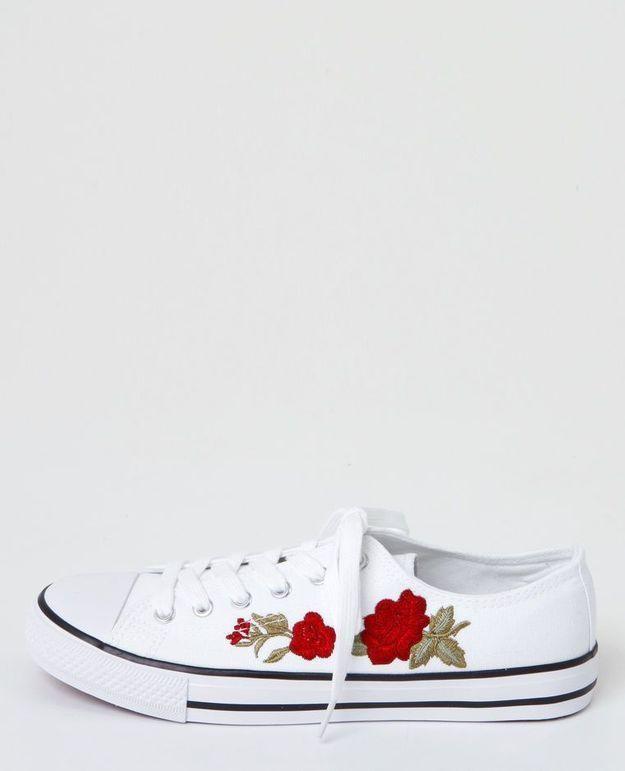 Baskets à fleurs Pimkie