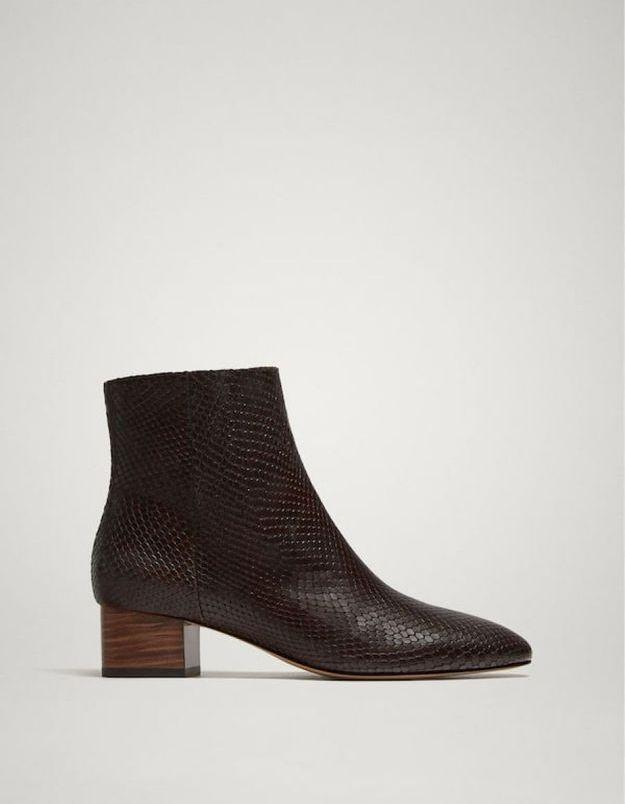 Boots femme Massimo Dutti