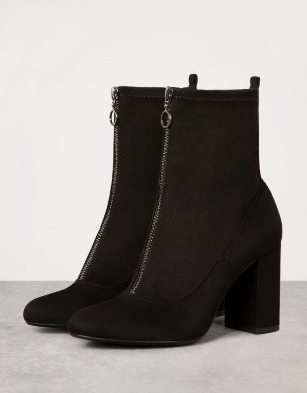 Bottines noires Bershka