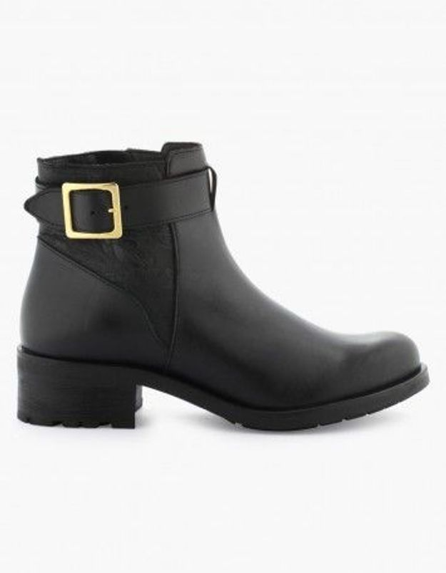 Bottines noires La Halle