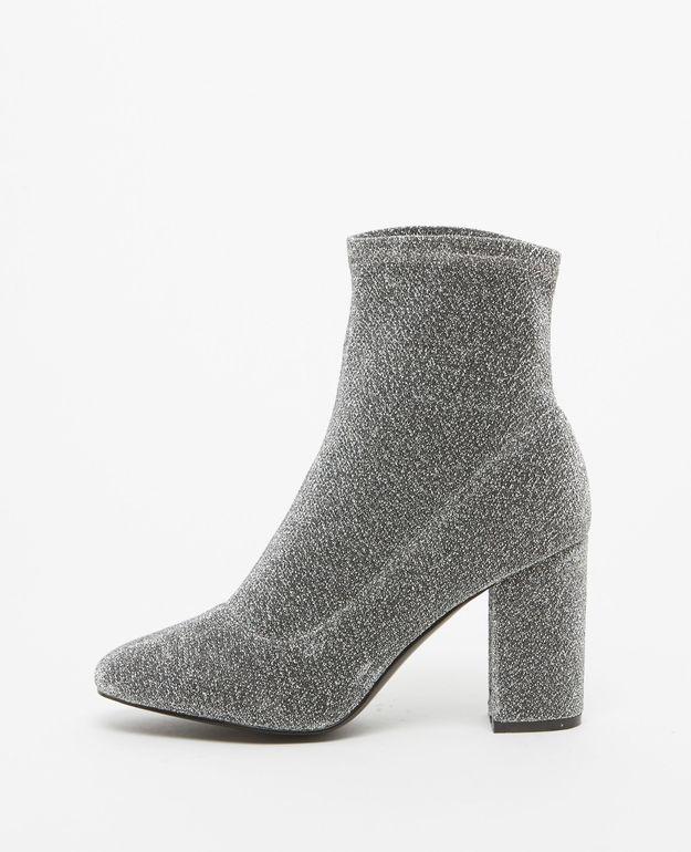 Bottines chaussettes pailletées Pimkie