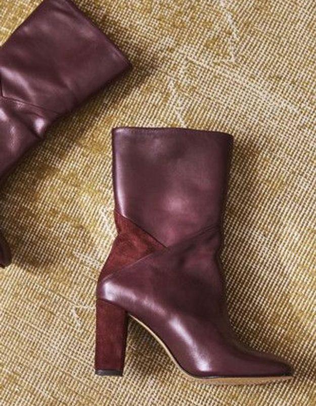 Chaussures sexy bottines bi matières Balzac Paris