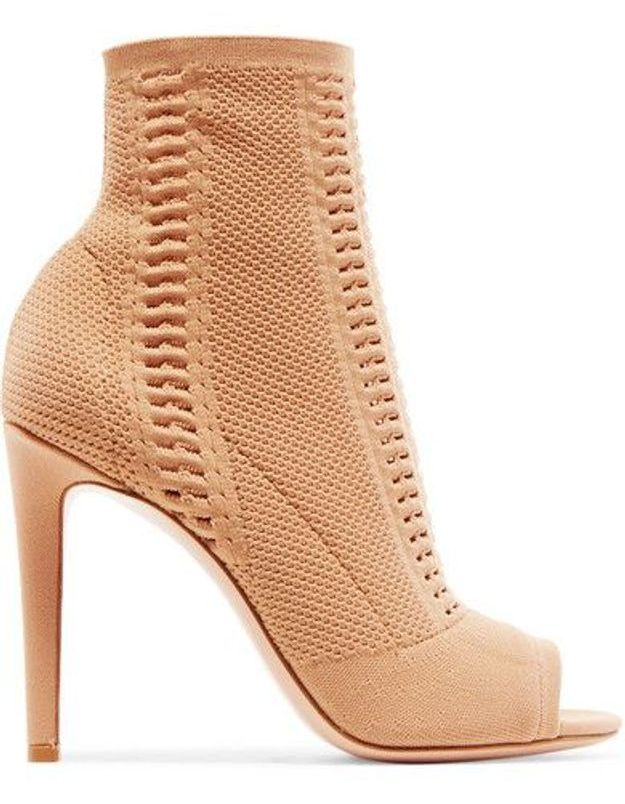 Chaussures sexy bottines en maille ajourée Gianvito Rossi
