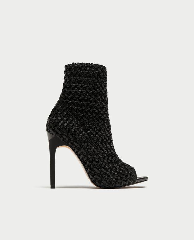 Chaussures sexy bottines tressées Zara
