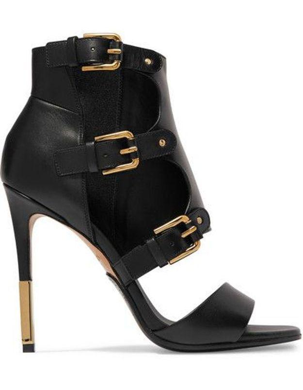 Chaussures sexy sandales à boucles Balmain