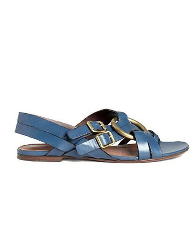 Mode guide shopping tendance accessoire chaussues sandales plates michel vivien bleu