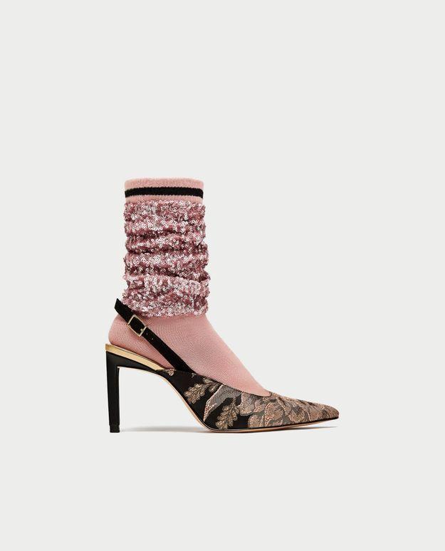 Chaussures à paillettes Zara