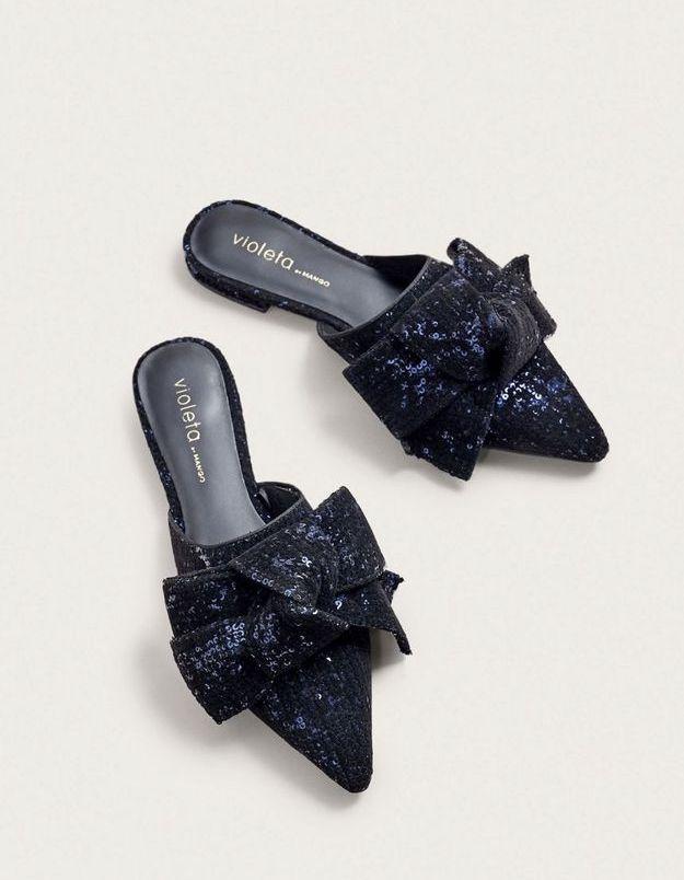 Chaussures à paillettes Mango