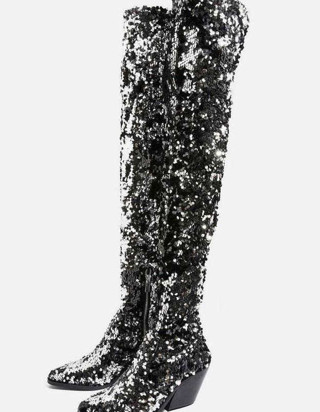 Chaussures à paillettes Topshop