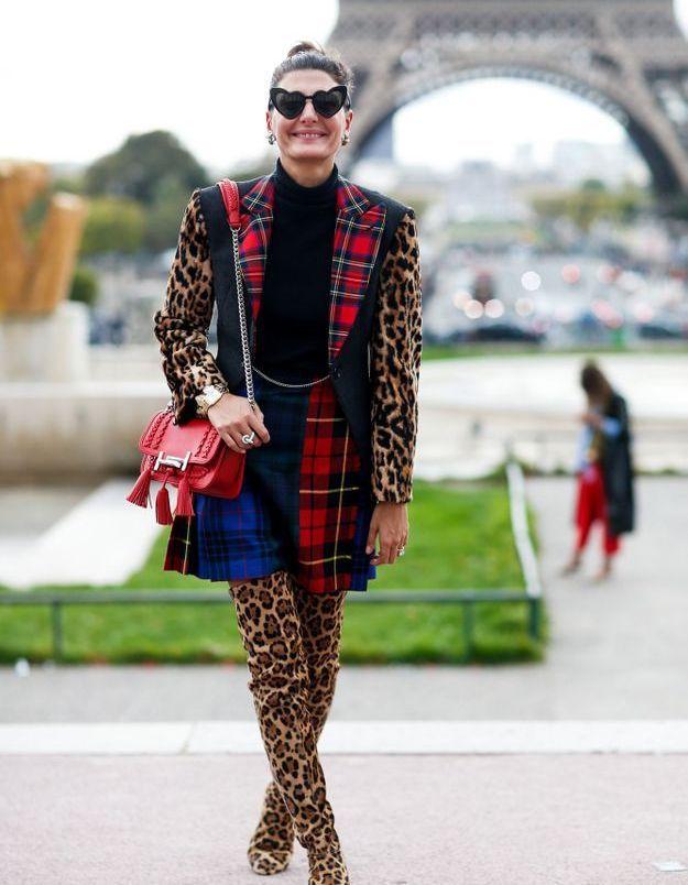 Giovanna Battaglia en cuissardes léopard