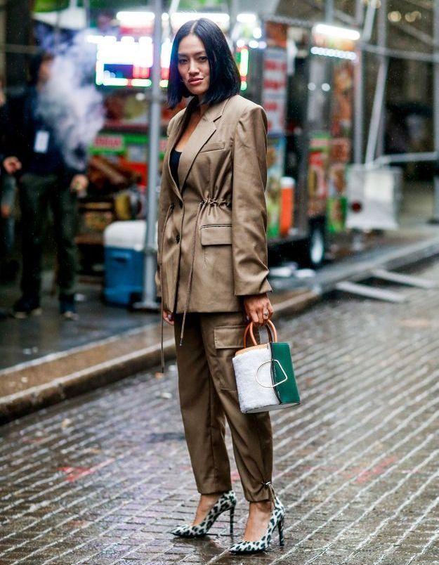 Tiffany Hsu en escarpins léopard