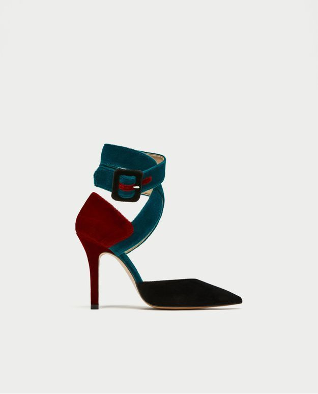 Escarpins noirs à boucles Zara