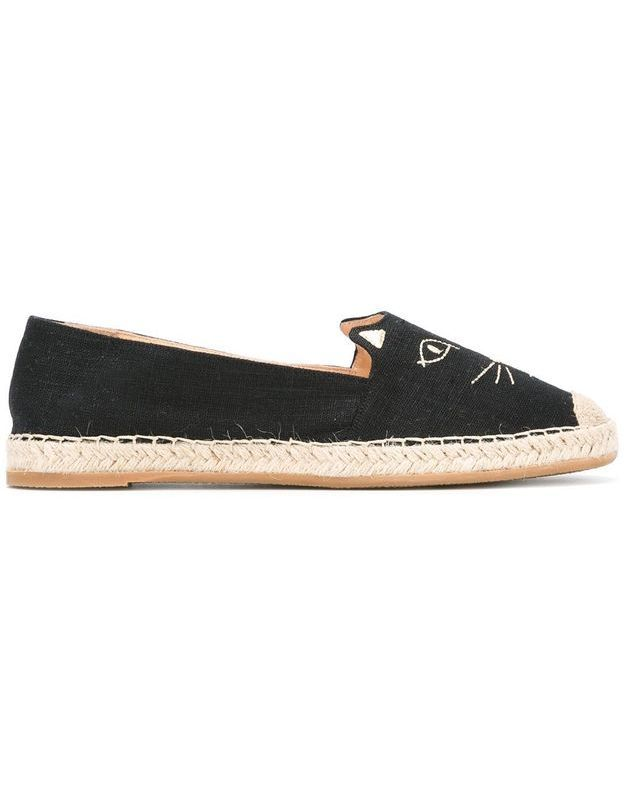 Espadrilles félines Charlotte Olympia
