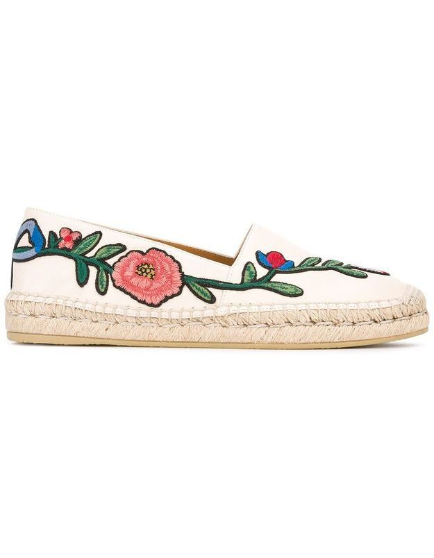 Espadrilles fleuries Gucci