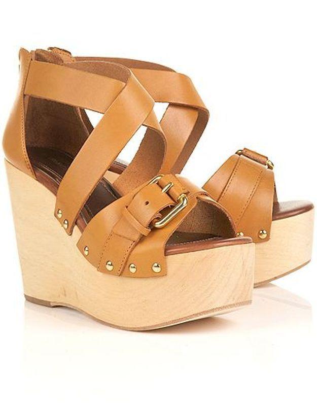 Mode guide shopping tendance chaussures talon bois peachy