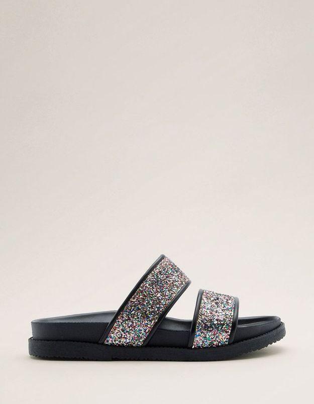 Grosses sandales à paillettes Esprit
