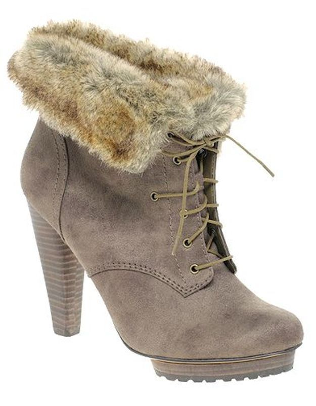 Mode guide shopping tendance look chaussures boots fourrees autograph