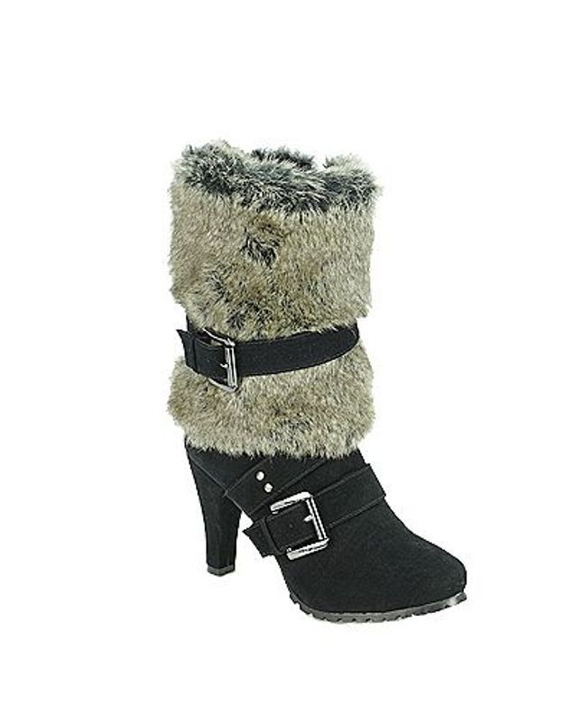 Mode guide shopping tendance look chaussures boots fourrees Morgan