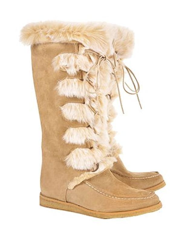 Mode guide shopping tendance look chaussures boots fourrees topshop