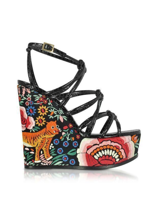 Sandales compensées Roberto Cavalli