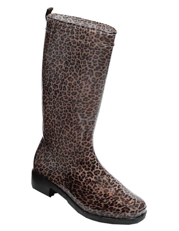 Bottes de pluie imprimé léopard Tati