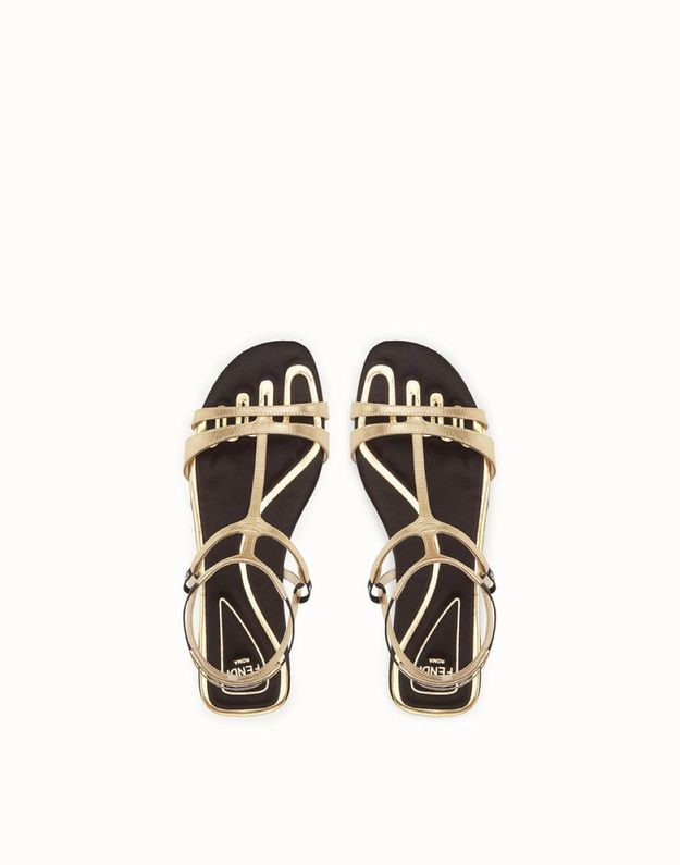 Sandales plates Fendi